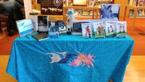 author, author series, blue dragon, table, book signing, learning,