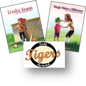 Lady Tigers, Girl Scout, badge, craft, book, design, scribe, writing, Brotherton, Blue Dragon Publishing, softball, teamwork, friendship, lessons