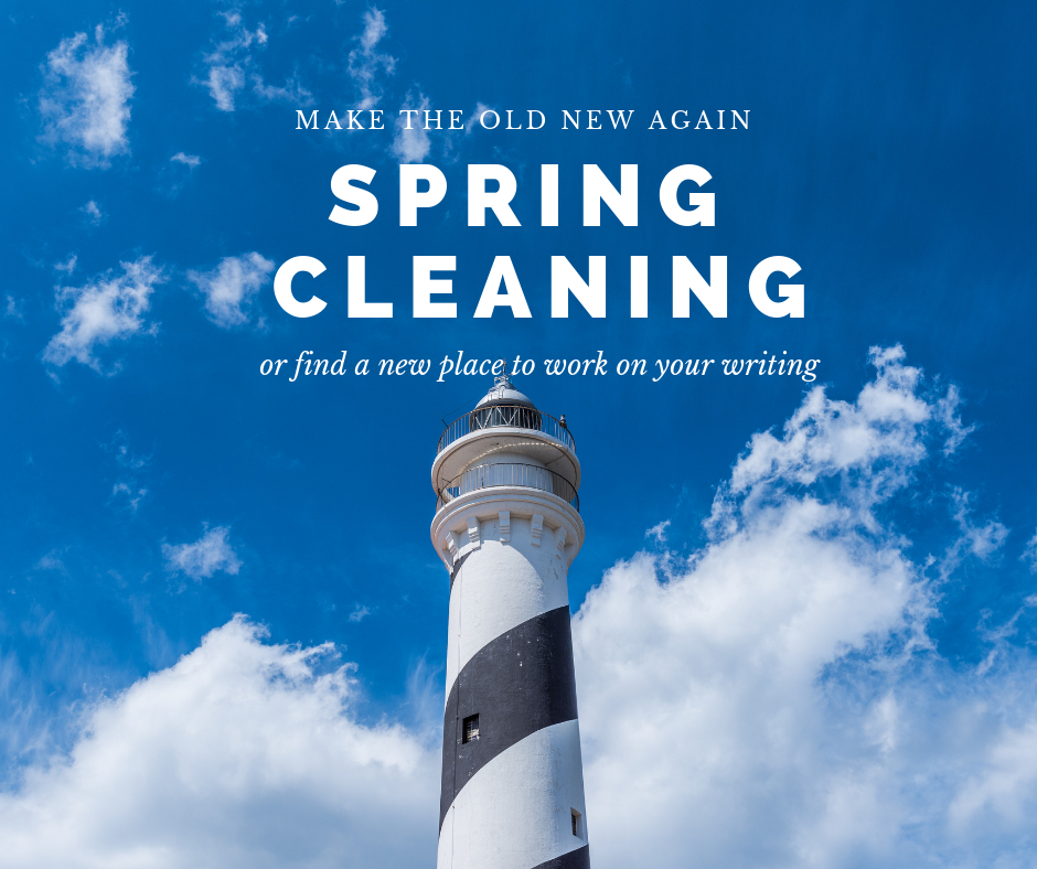 spring, cleaning, writing. block, writers' block, library, new, coffee shop, clean, refresh