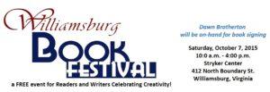 book, festival, author, Brotherton, Williamsburg, VA, Free